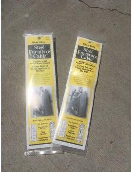 (2) Quake Hold Anti Tip Steel Furniture Cable 2830 Ready America 7 Inch 2 Pk New by Ready America