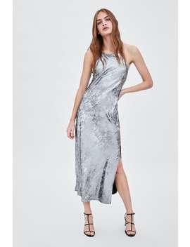 Metallic Long Dress  New Intrf by Zara