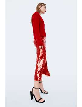 Velvet Wide Heeled Sandals  New Intrf by Zara