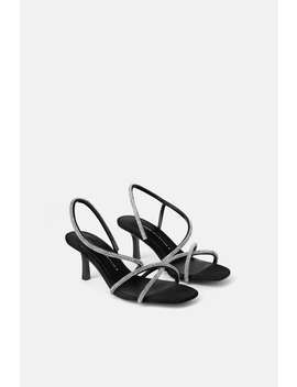 Bejeweled Mid  Height Heeled Sandalsnew In Trf by Zara