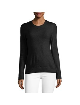 Essential Cashmere Crewneck Sweater by Lord & Taylor