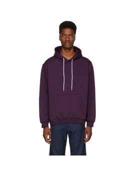 Purple Backwards Logo Hoodie by Msgm