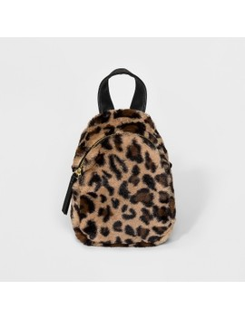 Faux Fur Leopard Print Mini Backpack   Wild Fable™ Brown by Wild Fable