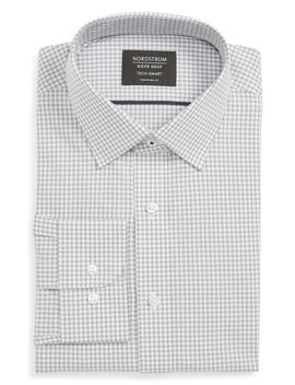 Tech Smart Traditional Fit Check Stretch Dress Shirt by Nordstrom Men's Shop