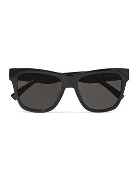 Escapade Square Frame Acetate Sunglasses by Le Specs