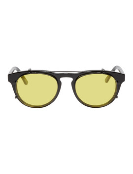 Black Timeless Clip On Sunglasses by Han Kjobenhavn
