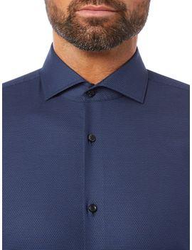 Kason Slim Stretch Birdseye Structure Shirt by Hugo