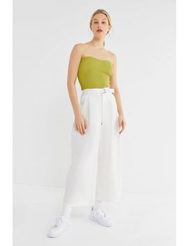 Uo Avril Pleated High Rise Wide Leg Pant by Urban Outfitters