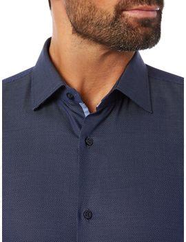 Jesse Slim Fit Pin Dot Shirt by Hugo Boss