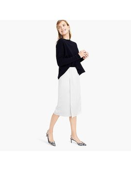 Foldover Pencil Skirt In Satin Crepe by J.Crew
