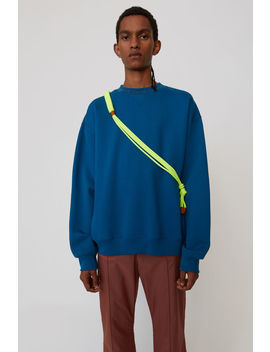 Iconic Sweatshirt Teal Blue by Acne Studios
