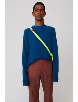 Crewneck Sweater Teal Blue by Acne Studios