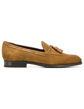 Tassel Embellished Loafers by Tagliatore