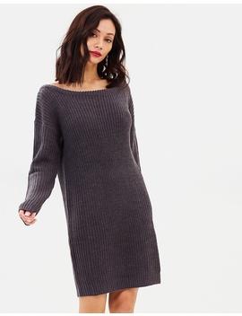 Off Shoulder Jumper Dress by Missguided