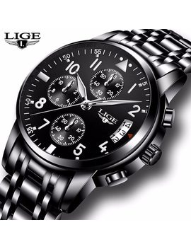 Mens Watches Waterproof Quartz Business Watch Lige Top Brand Luxury Men Casual Sport Watch Male Relogio Masculino Relojes Hombre by Lige