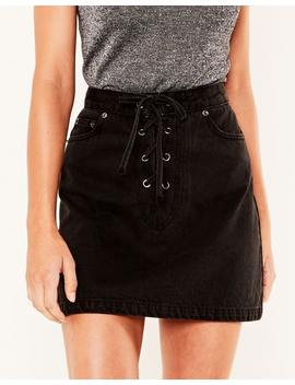 Lace Up Skirt by Glassons