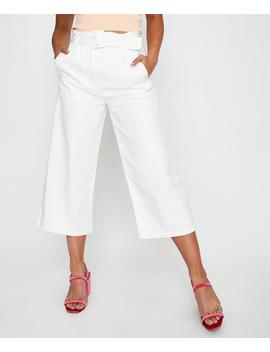 Karle Belted Pant White by Alice In The Eve