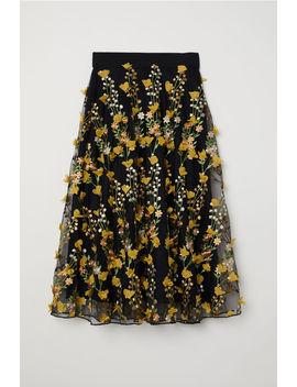Вышитая тюлевая юбка by H&M