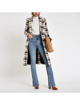 Blue High Rise Bootcut Flared Jeans by River Island