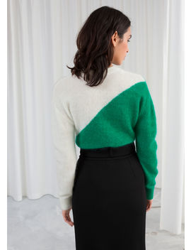 Colour Block Wool Blend Sweater by & Other Stories