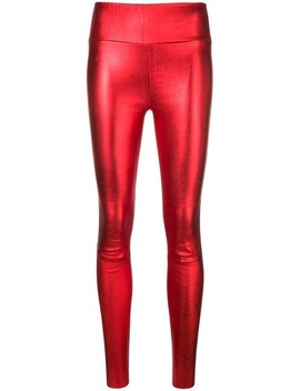 Metallic Leather Trousers by Sprwmn