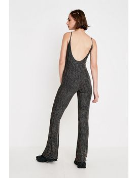 Uo Rainbow Vertical Stripe Glitter Jumpsuit by Urban Outfitters