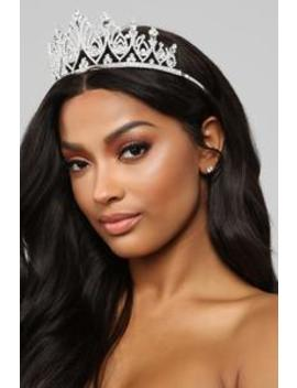 Queen Of Your Heart Tiara   Silver by Fashion Nova