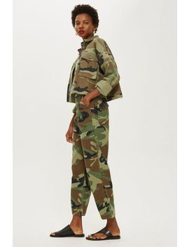 Petite Camo Print Trousers by Topshop