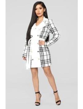 Feeling Rich Coat   White/Combo by Fashion Nova