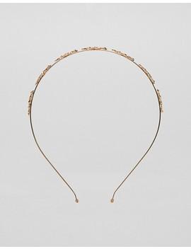 Asos Design – Hårband Med Skirt Guldfärgat Löv by Asos
