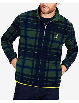 Men's Quarter Zip Plaid Pullover by Nautica