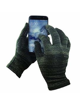 Mens Texting Gloves. Warm Smartphone Gloves With Anti Slip Grip, Insulated Layers & Full Hand Conductivity. Winter Style Black Touch Screen Gloves Women, Touchscreen Gloves Men by Amazon