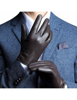 Touchscreen Leather Gloves For Men's Texting Driving Winter Christmas by Amazon