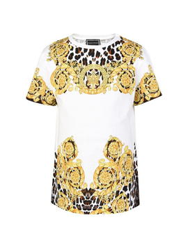 Junior Girls Animal Baroque T Shirt by Young Versace