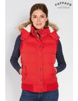 Fat Face Red Heritage Gilet by Next