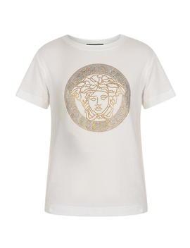 Childrens Girls Medusa Logo Embelishment T Shirt by Young Versace
