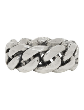 Silver Rigid Chain Ring by Emanuele Bicocchi
