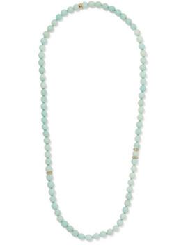 Recharmed 18 Karat Gold, Amazonite And Tanzanite Necklace by Carolina Bucci