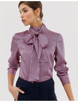 Ted Baker Leynta Pussybow Striped Blouse by Ted Baker