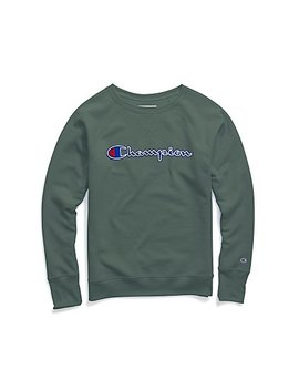 Champion Womens Powerblend¿ Fleece Boyfriend Crew   Applique Y07461 by Champion