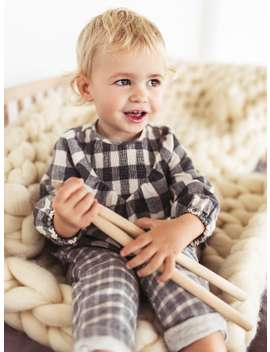 Lined Plaid Pants  Toddlerbaby Girl by Zara