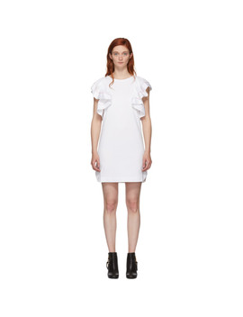 White Ruffled Dress by See By ChloÉ
