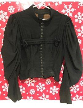 Um 1900 Vintage Viktorianische Schwarze Gotische Zuknöpfen Bluse by Etsy