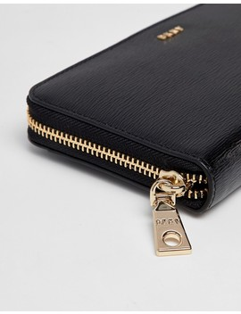 Dkny Bryant Ziparound Leather Wallet In Black by Dkny