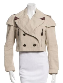 Tan Crop Brit Cropped Trench Large Jacket by Burberry