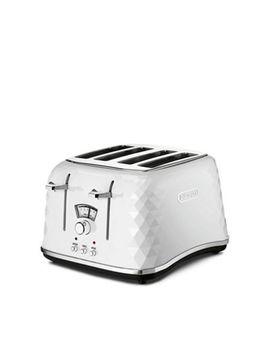 De Longhi   White 'brillante' 4 Slice Toaster Ctj4003.W by De Longhi