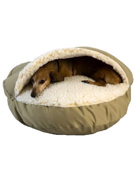 Cozy Cave Pet Bed In Poly Cotton by Snoozer