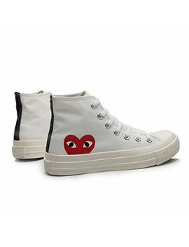 Replica 1970s Canvas Shoes Joint Name Cdg Play Love Unisex Adults' High Top Sneaker by Amazon