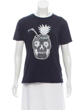 Pineapple Skull Short Sleeve T Shirt by Saint Laurent