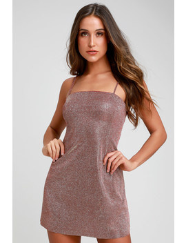 Galaxy Of Glam Mauve Sparkly Mini Dress by Lulus